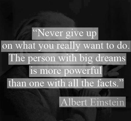 an einstein quote about dreamers